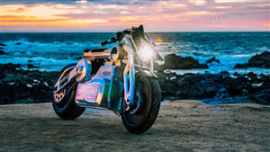 5K Wallpaper of Curtiss Zeus Concept Bike