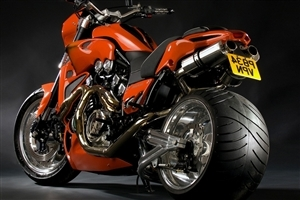 Amazing Orange Sport Bike HD Wallpaper