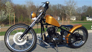 Cleveland Cyclewerks Bobber Golden Color Motorcycle