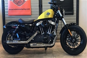 Harley Davidson Forty Eight Yellow One Seat Bike