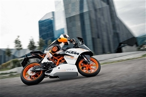 KTM Sport Bike on Road Photo