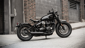 One Sheet Triumph Bobber Black Motorcycle