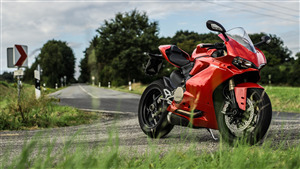 Red Ducati 1299 Panigale Bike 5K Wallpaper
