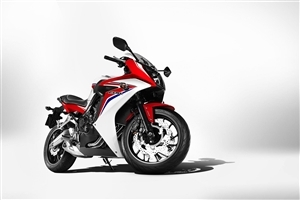 Red and White Honda CBR 650F ABS Amazing Super Fast Bike Photo