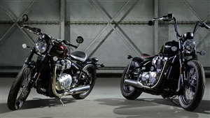 Triumph Bonneville Bobber Bike Desktop Background Wallpaper