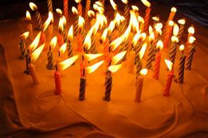 Birthday Cake with Candels