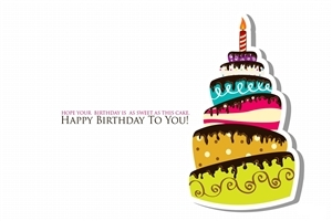Birthday Wishes with Cake HD Wallpaper