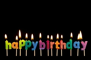 Happy Birthday Lamp on Latters Images