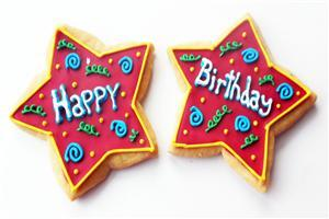 Happy Birthday on Cookies