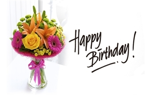 Happy Birthday with Flower HD Photo