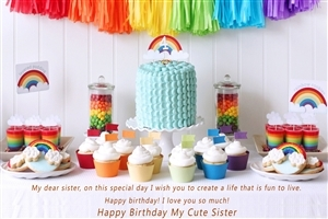 Wish You Happy Birthday My Cute Sister