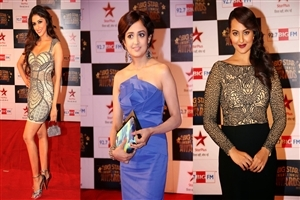 Aarti Chhabria Monali Thakur and Sonakshi Sinha in Big Star Entertainment Awards 2013 HD Wallpapers