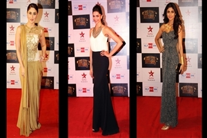Kareena Deepika and Shilpa Shetty in Big Star Entertainment Awards 2013 Wallpapers