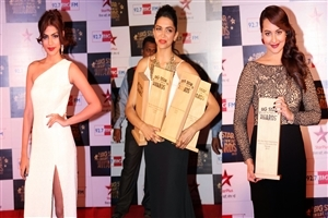 Rhea Chakraborty Sonakshi Sinha and Deepika Padukone with More Bollywood Awards HD Wallpapers