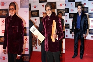 Salman Khan and Amitabh Bachchan in Big Star Entertainment Bollywood Award 2013 Photos