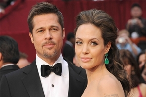 Brad Pitt with Angelina Jolie HD Wallpaper
