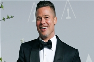Smiling Face of Brad Pitt Actor