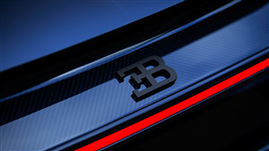 5K Wallpaper of Bugatti Car Logo
