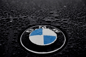 Beautiful Logo of BMW in Fog Wallpaper