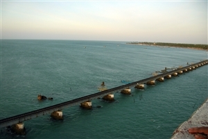 A Long and Beautiful Train Bridge of Rameshwaram Wallpapers