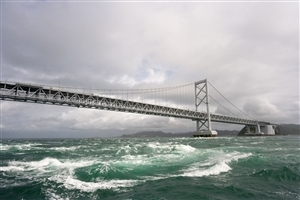 Beautiful Bridge on Sea