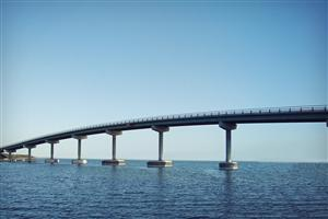 Bridge on Blue Sea Wallpapers