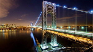 George Washington Bridge in Fort Lee New Jersey Wallpaper