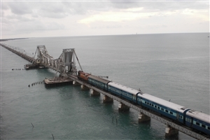 Long Rameshwaram Best Bridge Photos of India