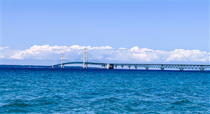 Mackinac Suspension Bridge in Michigan US Wallpaper