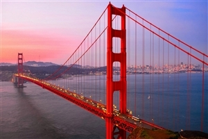 Popular Golden Gate Bridge in San Francisco California HD Desktop Background Wallpaper