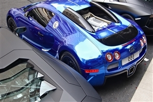Blue Bugatti Luxury Car HD Wallpaper