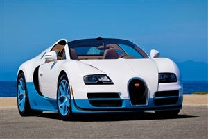 Car Bugatti on Road Image