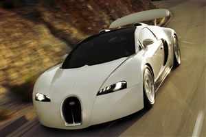 New White Bugatti HD Nice Wallpaper