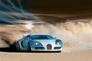 White Bugatti Car HD Wallpaper