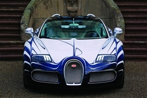 White and Blue Bugatti Veyron Grand Sport 2015 HD Car Laptop Background Images