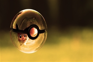 Cartoon Pokemon Ball HD Desktop Wallpaper
