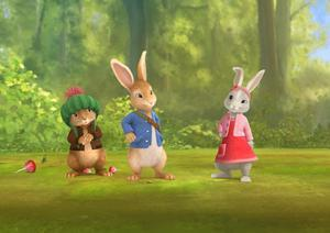 Peter Rabbit Three Sisters Film Wallpaper