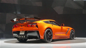 2019 Chevy Corvette ZR1 Orange Car