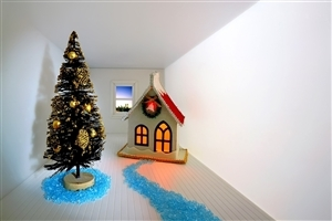Amazing Beautiful Home and Christmas Tree Decoration on 2013 Christmas Festival Wallpapers