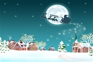 Beautiful Dream Christmas Night and Vehicle Wallpaper