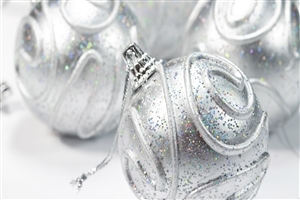 Beautiful Nice Silver Christmas Balls for Decoration on 2013 Holiday Festivals Photo