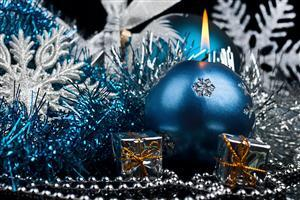 Blue Christmas Ball lamp Image