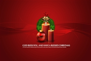 Canles and Christmas Bells for Decoration Greetings on 2013 Christmas HD Wallpapers