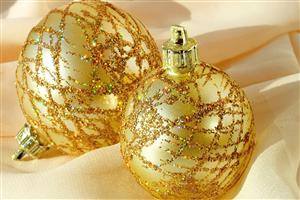Christmas Golden Ball Decorations