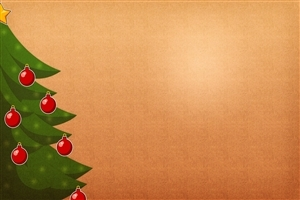 Christmas Tree and Decoration Painting on 2013 Holidays Wallpapers