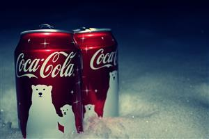 Coca Cola on Christmas Holiday Wallpaper
