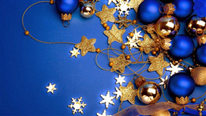 Festival Christmas Decorations with Star and Blue Ball