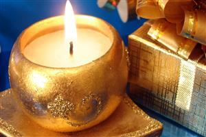 Lamp on Christmas Festival Image