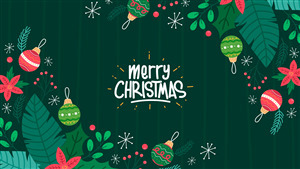 Merry Christmas 2019 Green Wallpaper