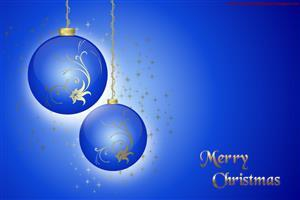 Merry Christmas Blue Wallpapers